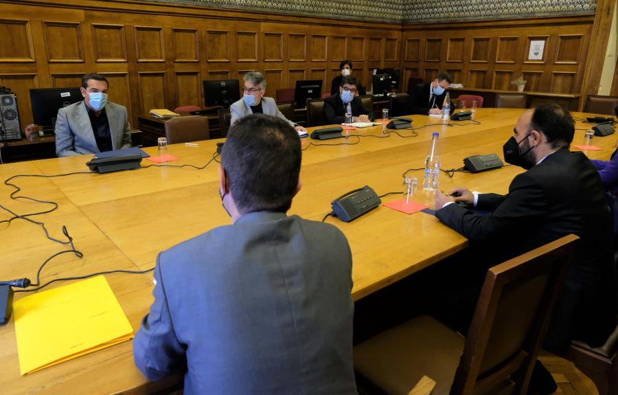 Ο Αλέξης Τσίπρας με την Ένωση Δικαστών και Εισαγγελέων