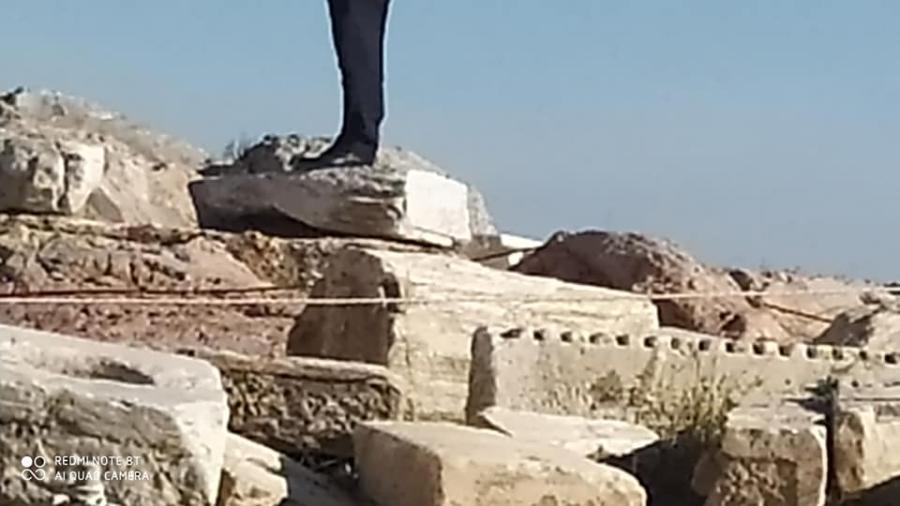 Ο Μιλτιάδης Βαρβιτσιώτης στην Ακρόπολη