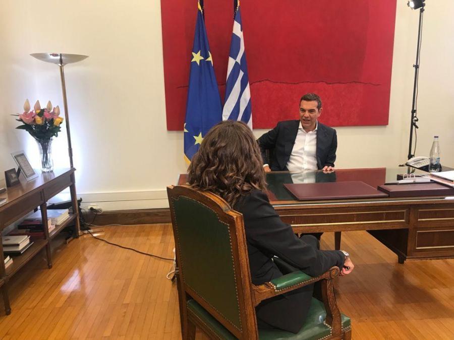 Ο Αλέξης Τσίπρας σε συνέντευξη στο Open