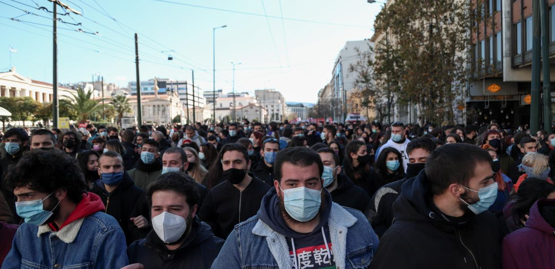 Φοιτητές διαδηλώνουν στην Αθήνα